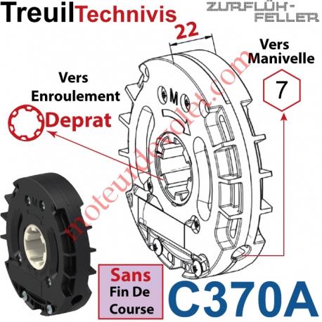 Treuil Technivis Débrayable Entr Hexa 7 Femelle Sort Crabot 22 Deprat Fem