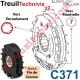 Treuil Technivis Débrayable Entrée Hexa7 Femelle Sortie Crabot Zf 22-27 Femelle Avec FdC
