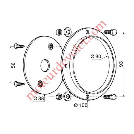 Plaque d'Orientation pour Treuil Minivis Avec Visserie