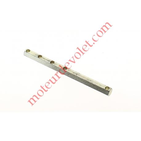Tige Hexagonale de 10 mm Longueur 130 mm Percée 5 Trous ø 5,3 mm Zinguée
