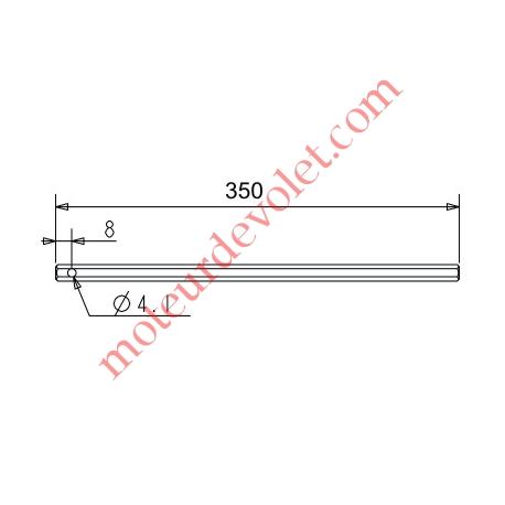 Tige Hexagonale de 7 mm Longueur 350 mm