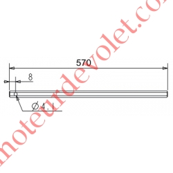 Tige Hexagonale de 7 mm Longueur 570 mm