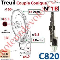 Treuil Couple Cônique n° 1 Bis Entrée Hexa7 Femelle Sortie Crabot Zf Mâle