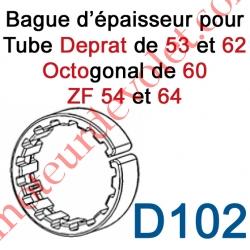 Bague d'épaisseur Ouverte pour augmenter le diamètre des tubes Deprat de 53 et 62, ZF de 54 et 64 et Octo 60