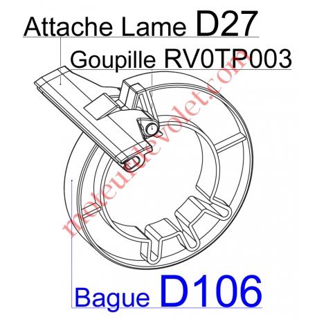 Bague de Verrou de Fixation Directe sur Tube Deprat 89 ø Ext 134 - 152 mm