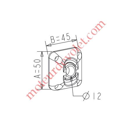 ZF: Guide à Rotule ø 12 mm Coloris Gris Avec Vis