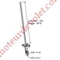 Sortie Bloc-Guide 45° Platine 44x50 Genouillère ø12 Femelle-Hexa10 lg 165 Avec Vis Coloris Blanc