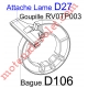 Elément d'interface entre Lame de 75 x 20 & Bague D106