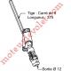 Sortie Bloc-Guide 60° Platine 22x62 Genouillère ø12 Femelle-Carré 8 lg 315 Avec Vis Coloris Blanc