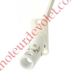 Sortie Mini Bloc-Guide 45° Platine 22x45 Genouillère ø12 Femelle-Hexa7 lg 170 Avec Vis Coloris Blanc