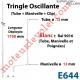 Tringle Oscillante Lg 1700 Blanche avec  Manivelle