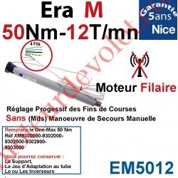 Moteur Nice Filaire Era M 50/12 Avec FdC Manuels Série M (Medium ø45mm) sans Mds
