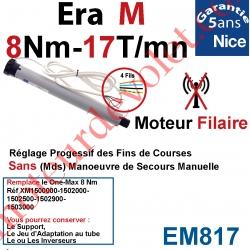 Moteur Nice Filaire Era M 8/17 Avec FdC Manuels Série M (Medium ø45mm) sans Mds