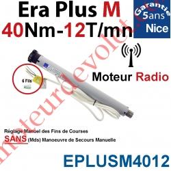 Moteur Nice Radio Era Plus M 40/12 Av FdC Manuel & Fréquence 433,92MHz Rolling Code Série M (Medium ø45mm)