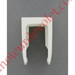 Bloqueur à Clip pour Tringle Oscillante Coloris Blanc