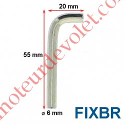 Broche Acier en L diamètre 6mm doit être utilisée avec les Supports SUP-CO-U et SUP-CO-S
