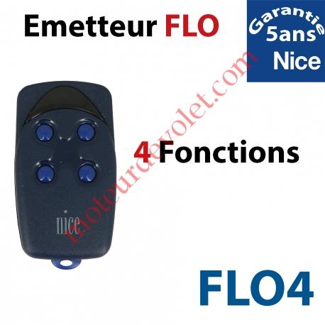 Emetteur Flo 4 Fonctions 433,92MHz Combinaison Fixe à Switchs 1024 Combinaisons