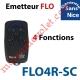 Emetteur Flor-sc 4 Fonctions 433,92MHz Rolling Code Numérotés