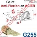 Galet Anti-Flexion en Elastomère Bâti en Acier Zingué
