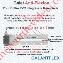 Galet Anti-Flexion ø 16,5 mm à Encombrement Très Réduit & Fixation Réglable Déportée