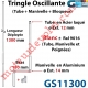 Tringle Oscillante Alu-Acier Blanc ± Ral 9016 Long Totale 1300 Bras Manivelle Long 180 mm Tige ø12