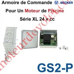 Armoire de Commande Electro-Mécanique pour Commander 1 Moteur de Piscine Série XL 24 v cc
