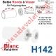 Butée Ronde Coloris Blanc à Visser sur Lame Finale Longueur 40 mm Avec Rondelle et Vis Zinguée Lg 25mm