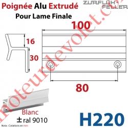 Poignée Alu Extrudé Ep 3 pr Lame Finale