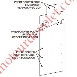 Protection pour Verrou Automatique Blocksûr Renforcé en Pvc Blanc