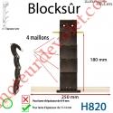 Verrou Automatique Blocksûr de 4 Maillons pour Lame 13-14 mm d'épaisseur