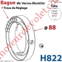 Bague de Verrou Automatique Blocksûr pr tube Deprat 62 ø Ext 88 Av1 Vis 4,2x12.7