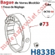 Bague de Verrou Automatique Blocksûr pr tube Octo 52 øExt 73 mm Av1 Vis 4,2x12,7
