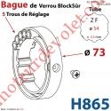 Bague de Verrou Automatique Blocksûr pour tube ZF 54 ø Ext 73mm Av 1 Vis 4,2x9,5