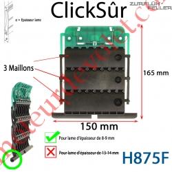 Verrou Automatique Clicksûr de 3 Maillons + Fil pour Lame 8-9 mm d'épaisseur