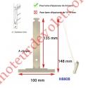 Attache Tablier Grise Longueur 142 mm à Clipper Fente 11x2 sur Tube Octo  pour Lame 8-9 mm
