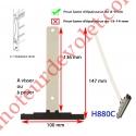 Attache Tablier Noire Longueur 142 mm à Visser pour Lame 8-9 mm d'épaisseur