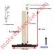 Attache Tablier Noire Lg 142 mm à Clipper sur Tube Zf pr Lame 8-9 mm d'épaisseur
