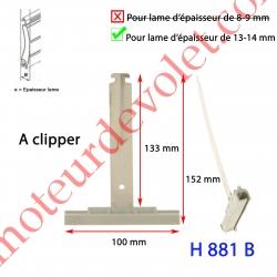 Attache Tablier Grise Longueur 147 mm à Clipper Fente 11x2 sur Tube Octo  pour Lame 13-14mm