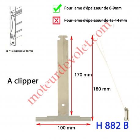 Attache Tablier Grise Longueur 175 mm à Clipper Fente 11x2 sur Tube Octo  pour Lame 8-9 mm