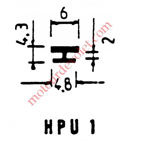 Joint Noir pour Coulisses de Traditionnel Lames de 13 mm -14 mm
