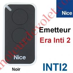 Emetteur Era Inti 2 Fonctions 433,92MHz Rolling Code Coloris Noir