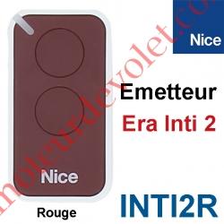 Emetteur Era Inti 2 Fonctions 433,92MHz Rolling Code Coloris Rouge