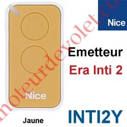 Emetteur Era Inti 2 Fonctions 433,92MHz Rolling Code Coloris Jaune