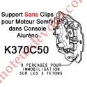 Support Moteur Somfy LT Tête Etoile Couple Maxi 30 Nm dans Aluréno Fourni Sans Anneau d'Arrêt