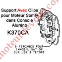 Support Moteur Somfy LT Tête Etoile dans Aluréno Avec Anneau d'Arrêt