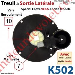 Treuil à Sortie Latérale Ent Hexa 7 Fem Sort Carré 10 Fem Ep 16 mm Veka