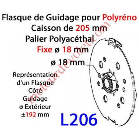 Flasque Fixe  pour Polyréno 205