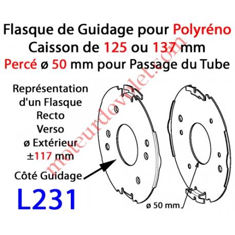 Flasque Fixe Percé ø 50 mm  pour Polyréno 125 & 137