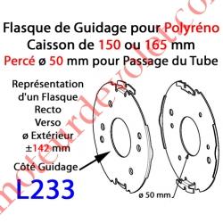 Flasque Fixe Percé ø 50 mm pour Polyréno 150 & 165