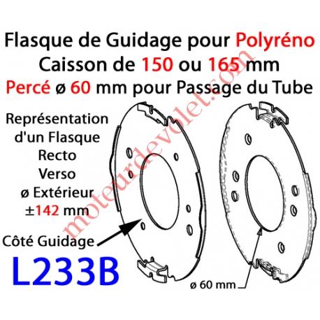 Flasque Fixe Percé ø 60 mm  pour Polyréno 150 & 165